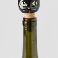 Let's Get Lit Black Cat Bottle Stopper