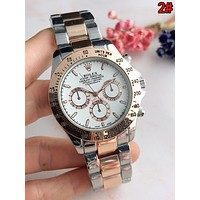 Rolex Fashionable Women Men Movement Business Quartz Watches Couple Wristwatch 2#