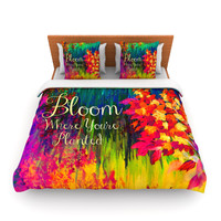 "Ebi Emporium ""Bloom Where You're Planted"" Floral Lightweight Duvet Cover"