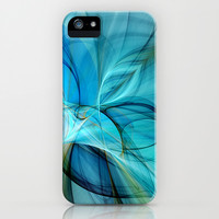 Abstract in Blue Digital Art iPhone & iPod Case by gabiw Art | Society6
