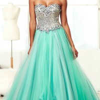 A-Line Strapless Ball Gown