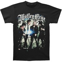 Motley Crue Men's  Group Photo T-shirt Black Rockabilia