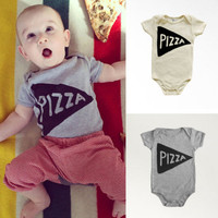 Newborn Baby Romper Summer Short Sleeve Pizza Clothes Toddler Kids Jumpsuit Outfit Casual Suit