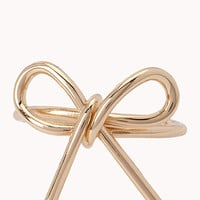Twisted Metal Bow Ring