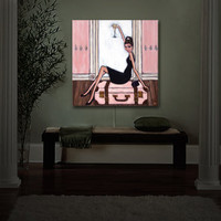 A Tribute to the Ever Classic Audrey Hepburn, Illuminated Art, Night Light, Room Decor, Kids and Adults, Built With LEDs