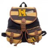 Hufflepuff Varsity Stripes Knapsack with Patches