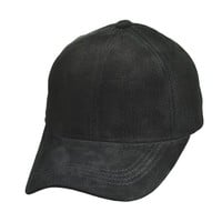 Emstate Suede Leather Baseball Caps Made in USA (Bone)