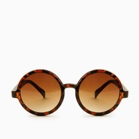 THE ROUND UP SUNGLASSES IN BROWN AND TORTOISE