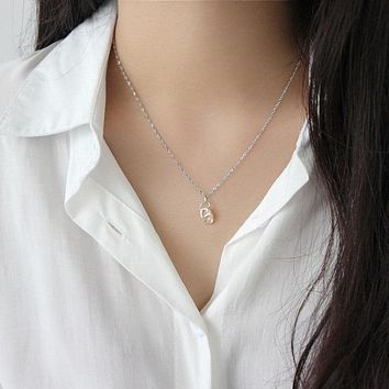 Irregular Geometric Baroque Freshwater Pearl Pendant Necklace Minimalist Jewelry