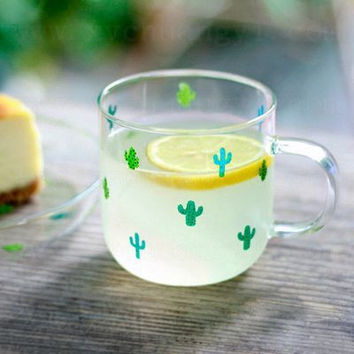 Cute Coffee Hot Sale On Sale Hot Deal Drinks Glass Vegetable Cup [4918655172]