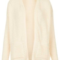 Knitted Tulip Stitch Cardi - Knitwear - Clothing - Topshop USA