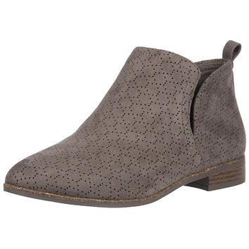 Dr. Scholl's Shoes Women's Rate Boot 6 Olive Perforated Microfiber Suede