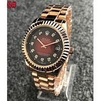 Rolex Fashionable Women Men Movement Quartz Watch Couple Wristwatch 5#