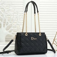 Dior Women Fashion Leather Crossbody Satchel