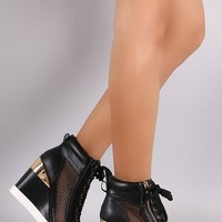 Not Versace Wedge Sneaker