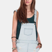 Simmer Down Distressed Overalls