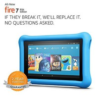 "All-New Fire 7 Kids Edition Tablet, 7"" Display, 16 GB, Blue Kid-Proof Case"