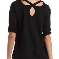 Cross-Back High-Low Tunic Tee by Charlotte Russe