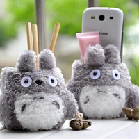 Cute TOTORO Phone Stand Holder Pen Pencil Holder