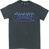 Thrasher Flame Tee XL Charcoal Heather