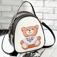 Moschino 2018 new fashion small backpack wild shoulder messenger bag F/A