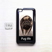 New Design Funny Hilarious Pug Life Parody fans For Ipod 4/Ipod 5 case ZG