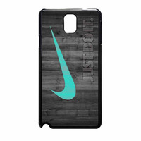 Nike Mint Just Do It Wooden Samsung Galaxy Note 3 Case