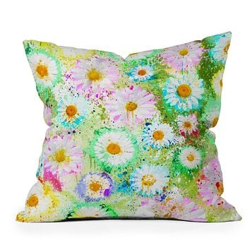Msimioni Sweet Flowers Colors Throw Pillow