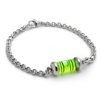 LEVEL BRACELET   LeeAnn Herreid Level Bracelet Combines Authentic Carpenter Tool with Silver Chain to Balance Classic and Quirky   UncommonGoods