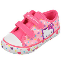 Hello Kitty Girls -Floating Hearts Low-Top Sneakers (Toddler Sizes 5 - 10)-hek02476