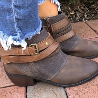 All Night Long Bootie - Brown