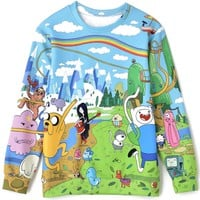 Brand New Cartoon Animal Pattern Sweatshirt - OASAP.com