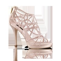 LOUISVUITTON.COM - Louis Vuitton  Tisha sandal in strass and satin  Shoes