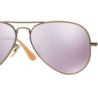 RAY BAN 0RB3025 Aviator Unisex Sunglasses Gold/Pink