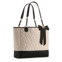 Betsey Johnson Quilted Love Color Block Tote
