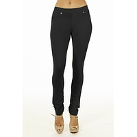Black Brazilian Moleton Women's Jeggings
