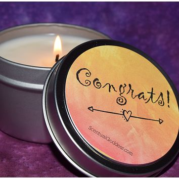 CONGRATS Candle - Congratulations You Did It - Success, Graduation, Promotion Gift