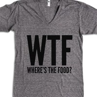 WTF Where's The Food V-NECK T-SHIRT (IDB512150)-T-Shirt
