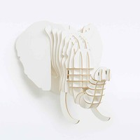 Elephant Sculpture in White - Urban Outfitters