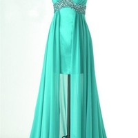 Fantastic A-line High low Chiffon dresses from Cute Dress