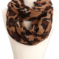 Leopard Print Infinity Scarf: Charlotte Russe