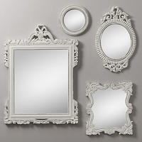 Vintage Hand-Carved Mirrors