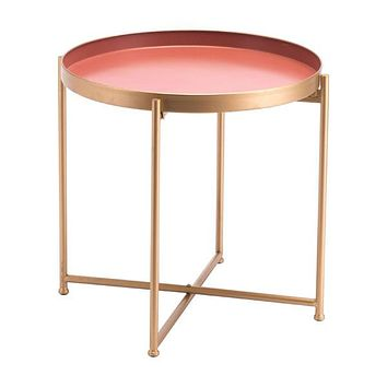 A11512 Red Short End Table Pink