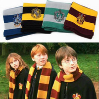 harry potter knitted scarf Cosplay striped warm scarves Wraps