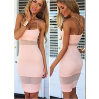 Women's Fashion Summer Sexy Bodycon Sheer slip Mini Dress Cocktail Dress Party Dress = 1956547908