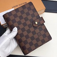 Louis Vuitton LV New Fashion Check Monogram Print Couple Business Casual Notebook Book