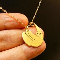 New Fashion Handmade Jewellery Animal Necklaces Sloth Necklace Sloth Christmas Gift For Best Friend