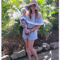 Mother Daughter Dresses 2017 Summer Family Clothing