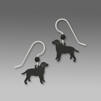 Sienna Sky Earrings - Black Labrador Retriever