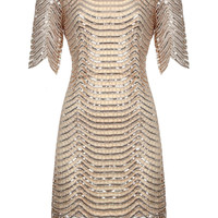 Gold Sequin Loose & Easy Mini Dress